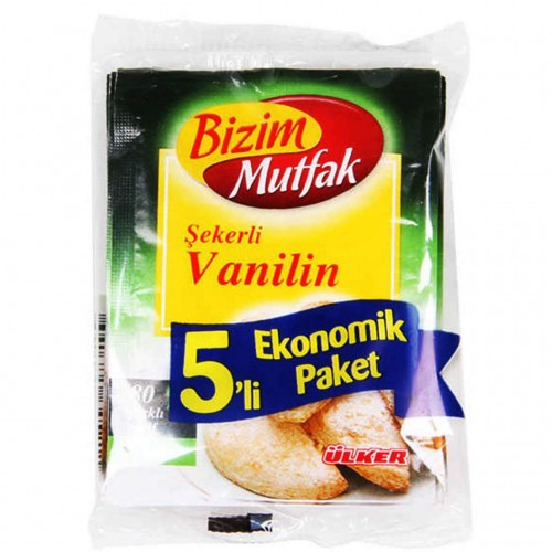 BIZIM SEKERLI VANILIN 5 LI