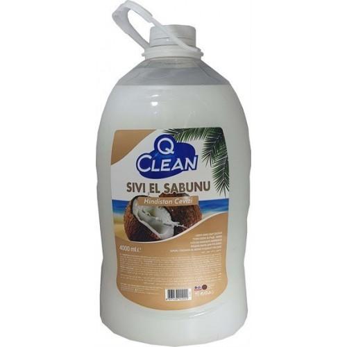 Q CLEAN SIVI EL SABUN HINDISTAN CEVIZ 4 LT