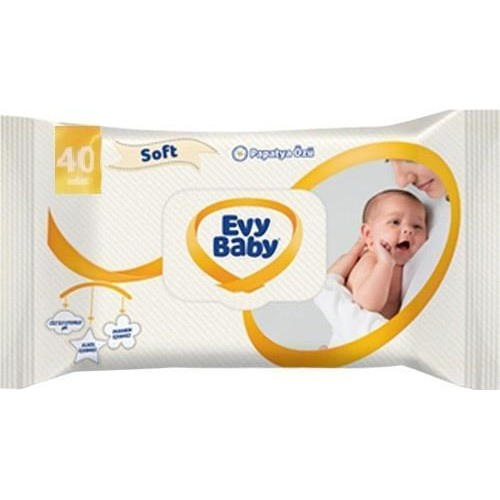 EVY BABY ISLAK HAVLU 40 LI
